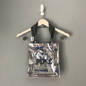 NWT Victoria's Secret silver tote bag